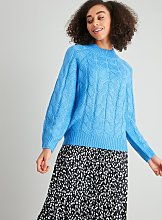 Blue Cable Knit Jumper - 14