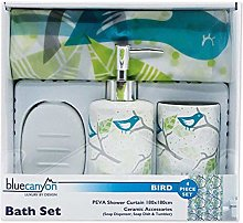 Blue Canyon 4 Piece Bird Shower Curtain and
