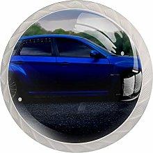 Blue Car White Drawer Handles Furniture Glass