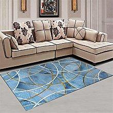 blue Cheap Area Rug Living room carpet fresh and