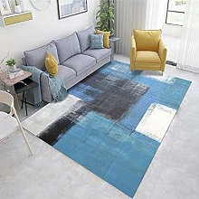 Blue Cheap Extra Large Rugs Abstract ink pattern