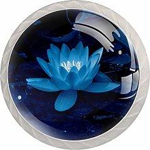 Blue Color Flower and Plant 4PCS Drawer