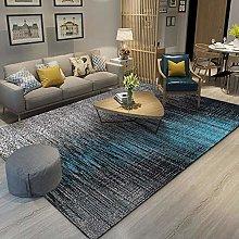 Blue corrugated lines Area rug modern style rug