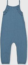 Blue Crinkle Jumpsuit - 3-4 years