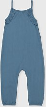 Blue Crinkle Jumpsuit - 6-7 years