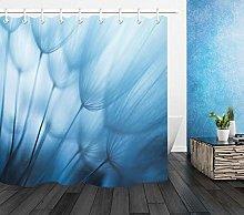 Blue Dandelion Flower Bathroom Accessories Fabric