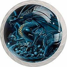 Blue Dragon White Crystal Drawer Handles Furniture