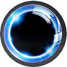 Blue Eclipse Crystal Door Knobs Glass Furniture