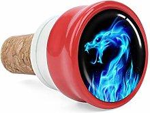 Blue Fire Dragon Wine Cork Wine Bottle Stoppers