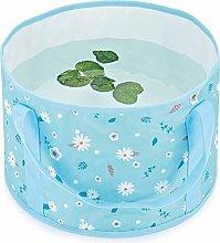 Blue Flower, Retractable Travel Outdoor washbasin,
