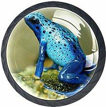 Blue Frog Crystal Drawer Handles Furniture Glass