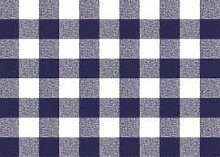 Blue Gingham Check PVC Vinyl Wipe Clean Tablecloth