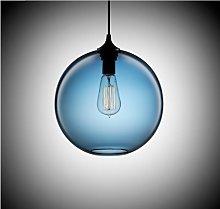 Blue Glass Ceiling Light Vintage Retro Chandelier