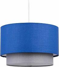 Blue & Grey 2 Tier Light Shade