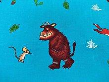 Blue Gruffalo Fabric - 100% Cotton Fabric - Width