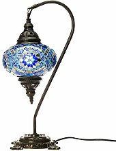 Blue Handmade Turkish Lamp Moroccan Ottoman Style