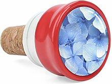 Blue Hydrangea Wine Cork Wine Bottle Stoppers