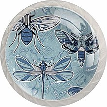 Blue Insect Drawer Knobs 30MM Cupboard Drawer