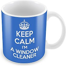 BLUE KEEP CALM I'm A Window Cleaner Mug Coffee