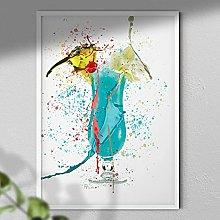 Blue Lagoon - Cocktail Wall Art Print - A3 Print