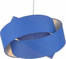Blue Layered Twist Ceiling Light Shade