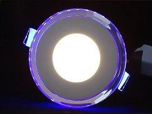Blue Light Round 1.5cm LED Slim Profile Recessed