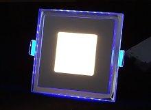 Blue Light Square 1.5cm LED Slim Profile Recessed