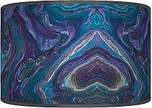 Blue Marble Abstract Lampshade - Handmade Shade -