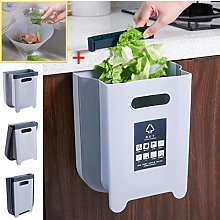 BLUE MARBLE Folding Kitchen Bin, Hanging Food Bin,