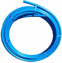 Blue MDPE Plastic Cold Water Pipe 25MM / 50M