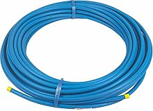 Blue MDPE Plastic Water Mains Pipe 20MM X 25M ROLL