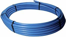 Blue MDPE Plastic Water Mains Pipe 25MM X 50M ROLL