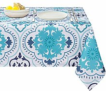 Blue Mediterranean TileTablecloth and Placemats