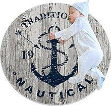Blue Nautical Anchor 1937 Rugs Ultra Soft Play