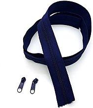 Blue Navy Continuous Zip & Sliders No. 5 Zippers