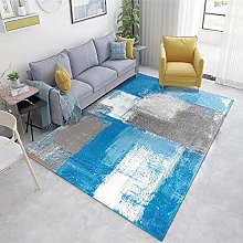 Blue Non-Slip Mat Abstract ink pattern living room