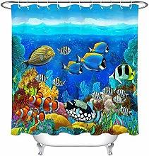不适用 Blue Ocean Sea Design Polyester Fabric