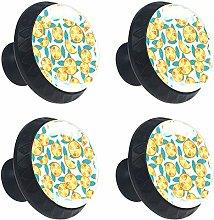 Blue Orange Round Cabinet Knobs 4pcs Knobs for