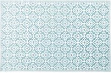Blue Outdoor Rug with White Graphic Print 180x270