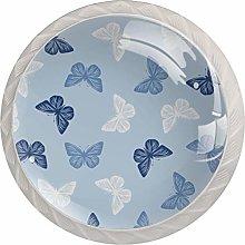 Blue Pattern Butterflies   Modern Minimalist