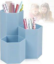 Blue Pencil Holder, Pencil Holder, Office