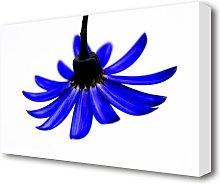 Blue Petals Flowers Canvas Print Wall Art East