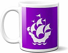 Blue Peter Badge on Purple Background on White