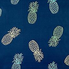 Blue Pineapple PVC Vinyl Wipeclean Tablecloth