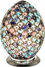 Blue & Pink Tile Mosaic Glass Vintage Egg Table