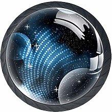 Blue Planet Crystal Drawer Handles Furniture Glass