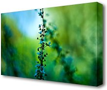 Blue Plant Flowers Canvas Print Wall Art East
