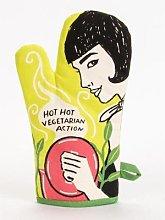 Blue Q - Hot Hot Vegetarian Action Oven Mitt By