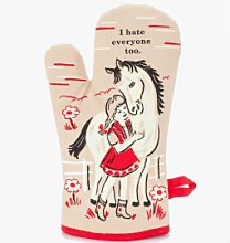 Blue Q - I Hate Everyone Oven Glove - Brown/Red