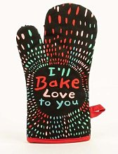 Blue Q - Ill Bake Love To You Oven Mitt By